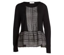 Pullover mit Schößchen - schwarz