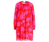 Seidenkleid DARY - rot/ pink