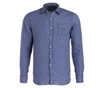 Leinenhemd Regular-Fit - blau