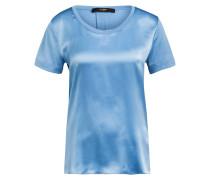 Blusenshirt aus Seide im Materialmix