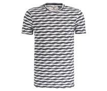 T-Shirt - beige/ dunkelblau