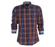 Hemd Casual modern fit - blau/ braun