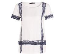 T-Shirt - weiss/ dunkelblau