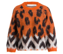 Pullover - orange/ schwarz