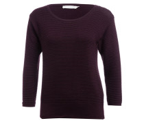 Pullover mit 3/4-Arm - pflaume