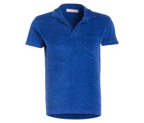 Frottee-Poloshirt TERRY - blau