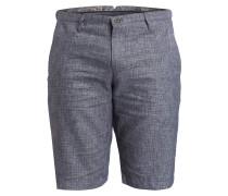Chino-Shorts mit Leinenanteil