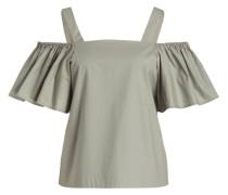 Off-Shoulder-Bluse - khaki