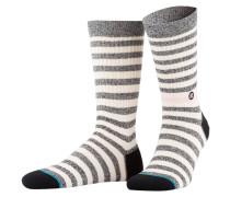 Socken HONEY - grau/ weiss gestreift