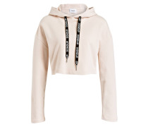 Cropped-Hoodie STRAPS - nude