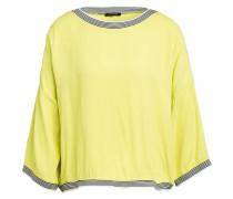Oversized-Blusenshirt mit 3/4-Arm und Glitzergarn