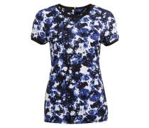 T-Shirt - blau/ weiss/ schwarz