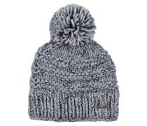 Grobstrick-Mütze JASMIN - grau
