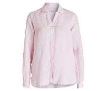 Leinenbluse - rosa