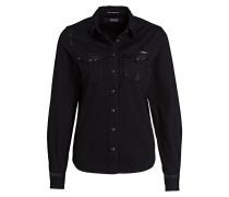 Jeansbluse - schwarz