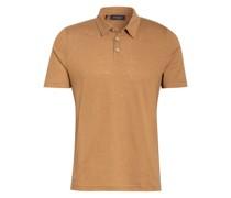 Jersey-Poloshirt mit Leinen