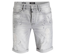 Destroyed-Jeans-Shorts - light grey