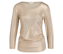 Shirt mit 3/4-Arm - rosé/ gold