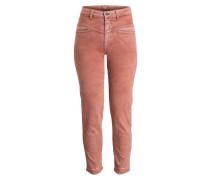 7/8-Jeans PEDAL PUSHER - koralle meliert