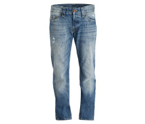 Destroyed-Jeans Relaxed Skinny-Fit