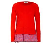 Pullover mit Cashmere im Materialmix