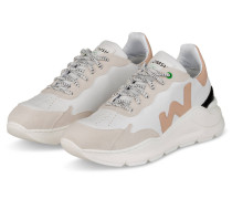 Plateau-Sneaker WAVE - WEISS/ CREME/ NUDE