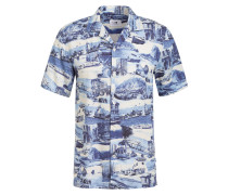 Resorthemd MIYAGI Regular Fit mit Leinen
