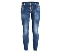 7/8-Jeans - medium nothing wash blue