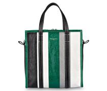 Shopper BAZAR SMALL - grün/ weiss