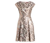 Brokat-Kleid KRISTENA - silber/ rosé