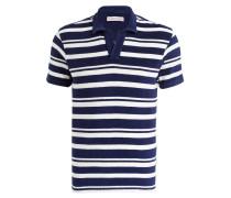 Frottee-Poloshirt TERRY - blau/ weiss
