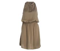 Kleid mit Spitzeneinsatz am Rücken - oliv