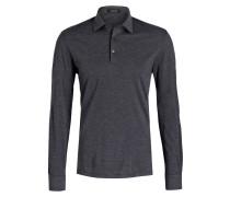 Jersey-Poloshirt - dunkelgrau