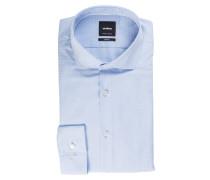 Hemd SEAN Slim-Fit - hellblau strukturiert