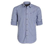 Trachtenhemd HENDRIK - weiss/ blau
