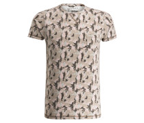 T-Shirt - taupe/ anthrazit/ rosa
