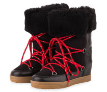 Fell-Boots NOWLY - SCHWARZ