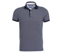 Piqué-Poloshirt Slim-Fit - navy/ weiss