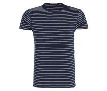 T-Shirt - blau/weiss gestreift