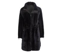 Mantel aus Lammfell - anthrazit