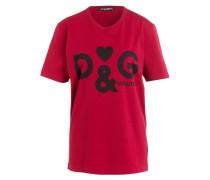 T-Shirt - rot/ schwarz