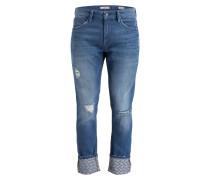 Destroyed-Jeans JAMES Skinny-Fit - blau