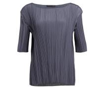 Plissee-Shirt - anthrazit
