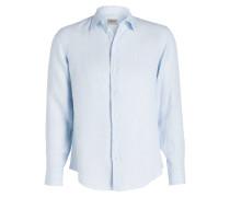 Leinenhemd Slim-Fit - blau