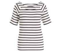 T-Shirt - offwhite/ schwarz gestreift
