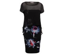 Kleid OSAKA - schwarz/ weiss/ blau
