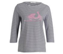 Shirt mit 3/4-Arm - schwarz/ weiss