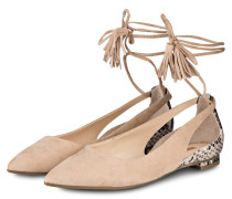 Cut-Out-Ballerinas - beige