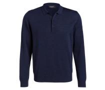 Schurwoll-Pullover - dunkelblau meliert