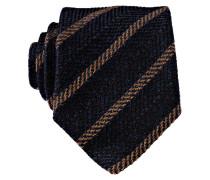 Krawatte - marine/ hellbraun